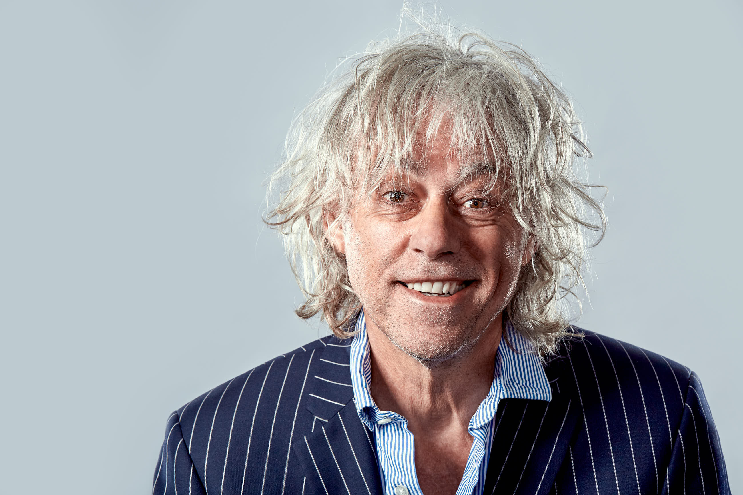 a portrait of Bob Geldof by Jack Terry, all rights reserved